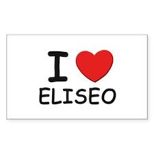 I love Eliseo Rectangle Decal