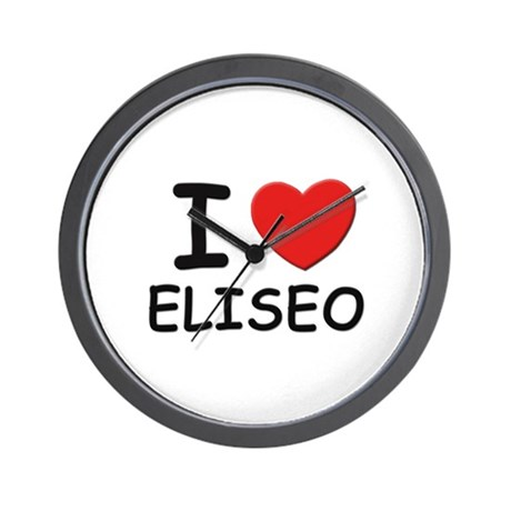 I love Eliseo Wall Clock