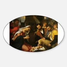 Adoration of Christ in the Manger Decal