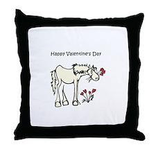 Valentine Horse Throw Pillow