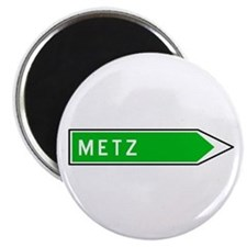 Roadmarker Metz - France Magnet