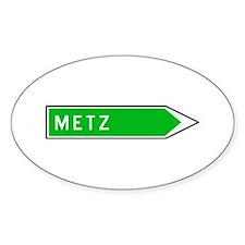 Roadmarker Metz - France Oval Decal