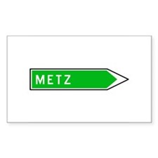 Roadmarker Metz - France Rectangle Decal