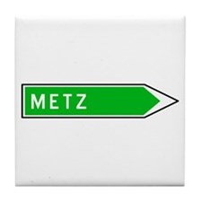 Roadmarker Metz - France Tile Coaster