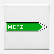 Roadmarker Metz - France Tile Coaster
