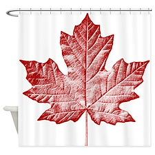Canada Souvenir Canadian Maple Leaf Shower Curtain