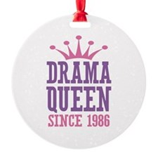 Drama Queen Since 1986 Ornament