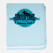 crater lake 3 baby blanket