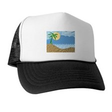 TROPICAL BEACH [1] Trucker Hat