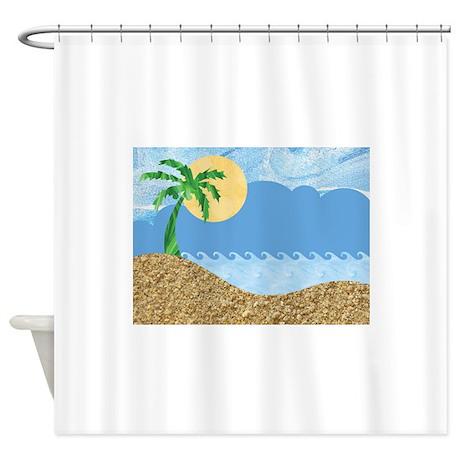 TROPICAL BEACH [1] Shower Curtain