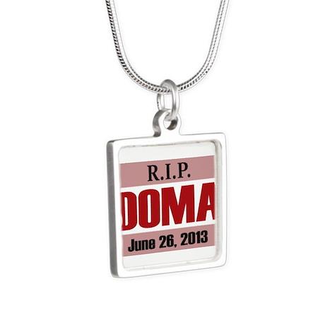 RIP DOMA Silver Square Necklace