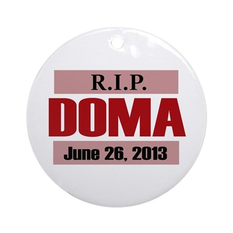RIP DOMA Ornament (Round)