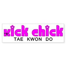 Tae Kwon Do Kick Chick Bumper Bumper Sticker