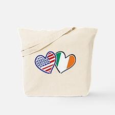 USA Ireland Heart Flags Tote Bag