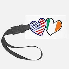 USA Ireland Heart Flags Luggage Tag