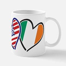 USA Ireland Heart Flags Mug