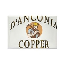 d'Anconia Copper Retro Miner Rectangle Magnet