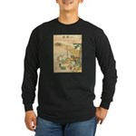 Japanese illustration Long Sleeve Dark T-Shirt