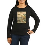 Japanese illustration Women's Long Sleeve Dark T-S