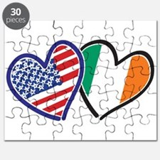 USA Ireland Heart Flags Puzzle