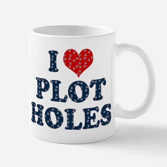 I Heart Plot Holes Mug