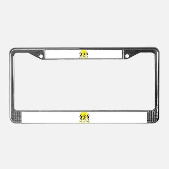 Lets Go Lime License Plate Frame