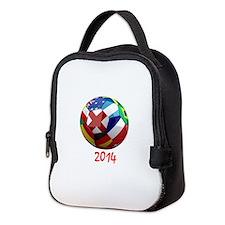 2014 Soccerball.png Neoprene Lunch Bag