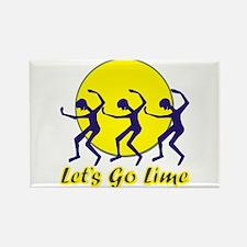 Lets Go Lime Rectangle Magnet