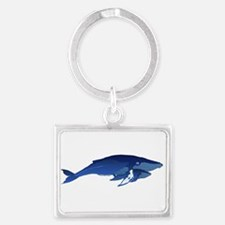 Humpback Whale Mom and Baby 2 Keychains