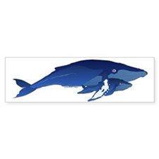 Humpback Whale Mom and Baby 2 Bumper Bumper Sticker