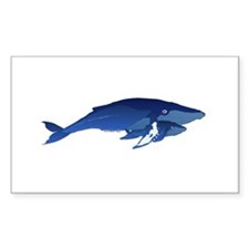 Humpback Whale Mom and Baby 2 Decal