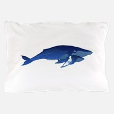 Humpback Whale Mom and Baby 2 Pillow Case