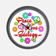 Peace Love Geology Wall Clock