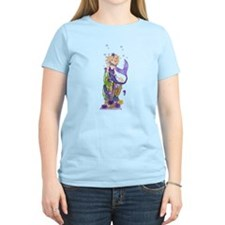 Women's Mermaid V-Neck Dark T-Shirt