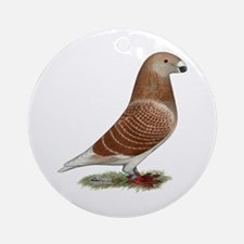 Show Racer Red Check Pigeon Ornament (Round)