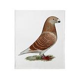 Homing pigeons Fleece Blankets