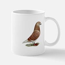 Show Racer Red Check Pigeon Mug