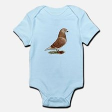 Show Racer Red Check Pigeon Infant Bodysuit