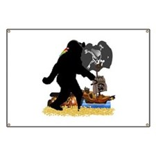 Gone Squatchin Fer Buried Treasure Banner