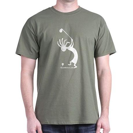 Kokopelli Golfer Dark T-Shirt