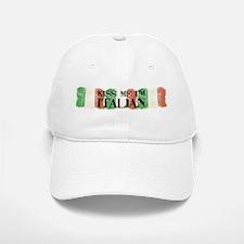 Kiss Me I'm Italian Flag Baseball Baseball Cap