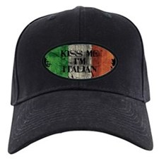 Kiss Me I'm Italian Flag Baseball Hat