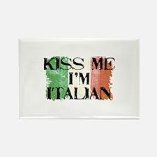 Kiss Me I'm Italian Flag Rectangle Magnet