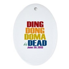 Ding Dong Doma's Dead Ornament (Oval)