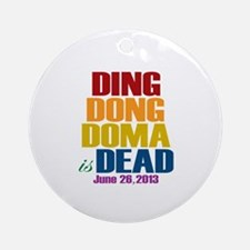 Ding Dong Doma's Dead Ornament (Round)
