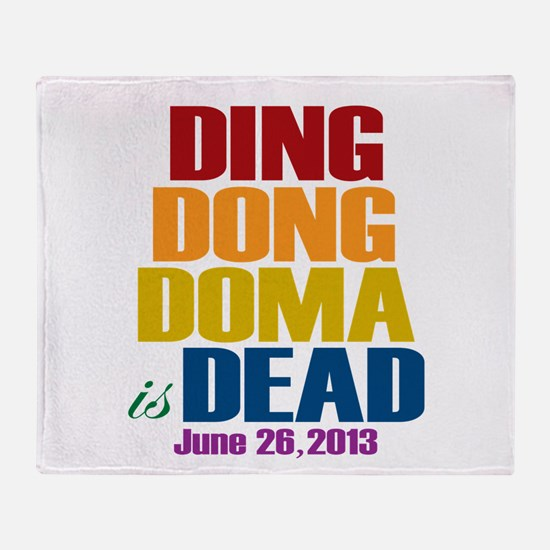 Ding Dong Doma's Dead Throw Blanket