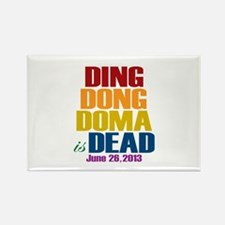 Ding Dong Doma's Dead Rectangle Magnet
