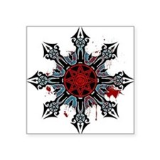 "Cross of Chaos Square Sticker 3"" x 3"""