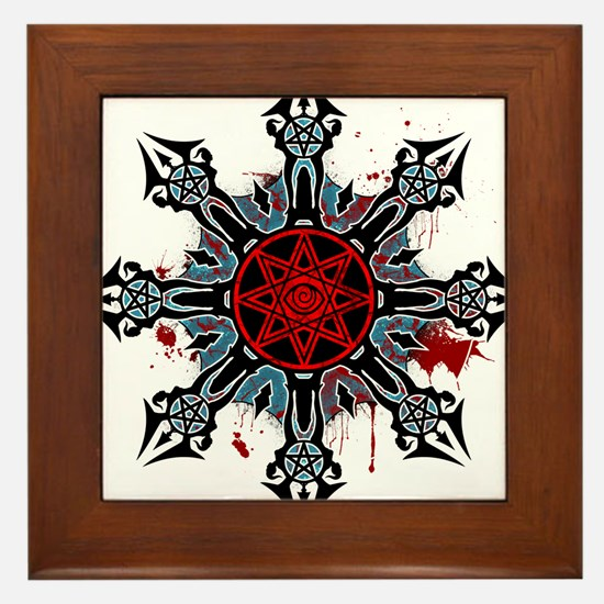 Cross of Chaos Framed Tile
