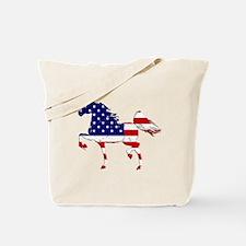 Patriotic American Gaited Horse Tote Bag